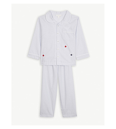 6459d2fb5e THE LITTLE WHITE COMPANY - Star striped cotton pyjamas 1-6 years ...