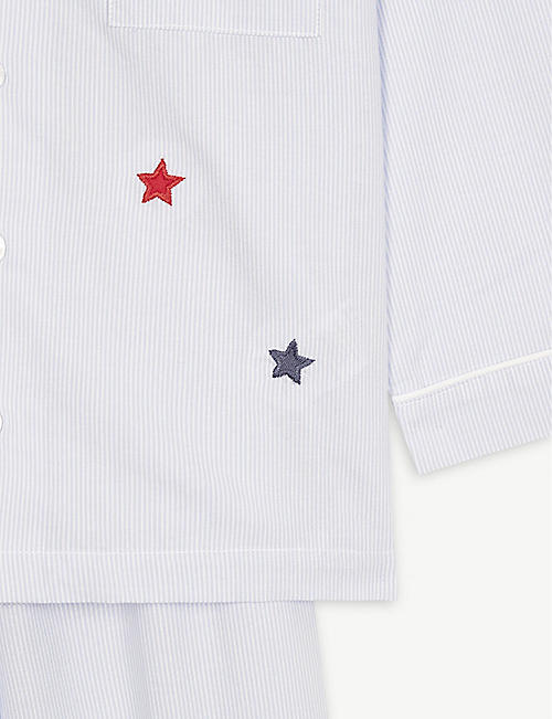 THE LITTLE WHITE COMPANY Star striped cotton pyjamas 1-6 years
