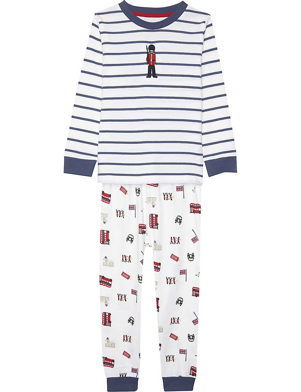 bd983e75 THE LITTLE WHITE COMPANY - London soldier cotton pyjamas 1-6 years ...