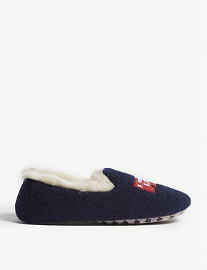 THE LITTLE WHITE COMPANY London bus slippers