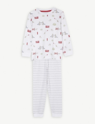 THE LITTLE WHITE COMPANY London print cotton pyjamas 1-12
