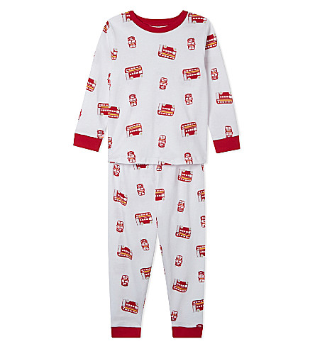 THE LITTLE WHITE COMPANY - London Bus cotton pyjamas 1-5 years ... 5d3e16391