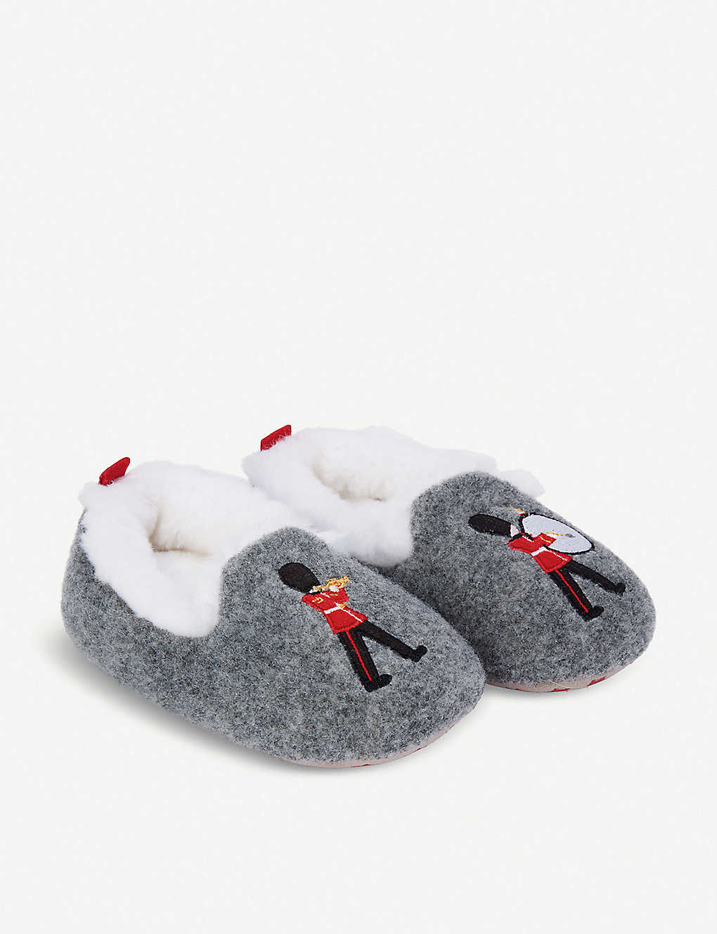 THE LITTLE WHITE COMPANY: London applique slippers 0-7 years