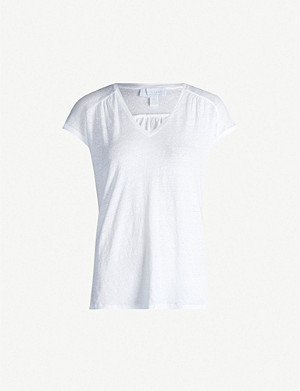 THE WHITE COMPANY V-neck linen T-shirt