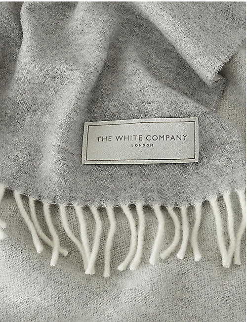 THE WHITE COMPANY Luxury wool and cashmere-blend throw