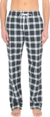 THE WHITE COMPANY Checked cotton pyjama bottoms