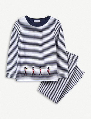 THE LITTLE WHITE COMPANY Striped graphic-print cotton pyjamas 1-12 years