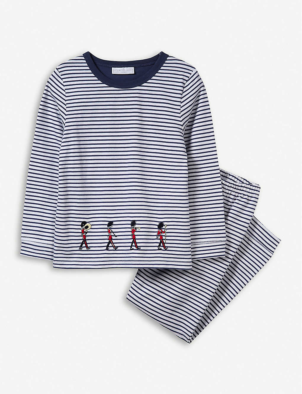 THE LITTLE WHITE COMPANY: Striped graphic-print cotton pyjamas 1-12 years