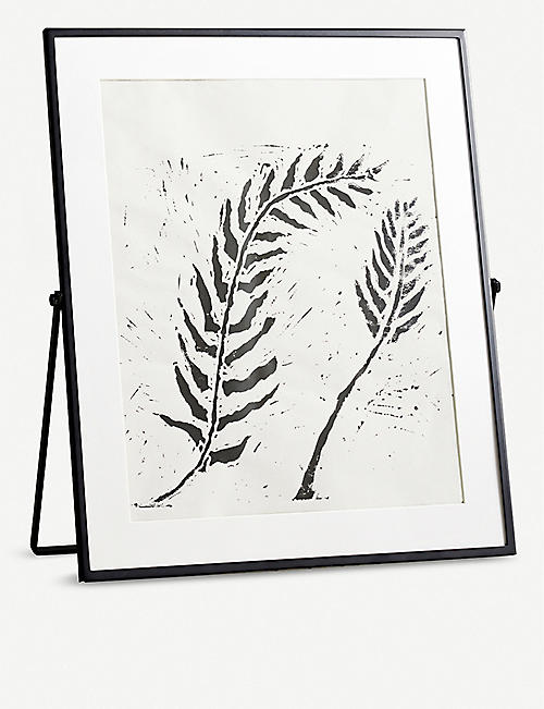 THE WHITE COMPANY: Fine black easel frame 8x10cm