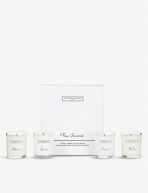 THE WHITE COMPANY Four Season votive collection 4 x 75g