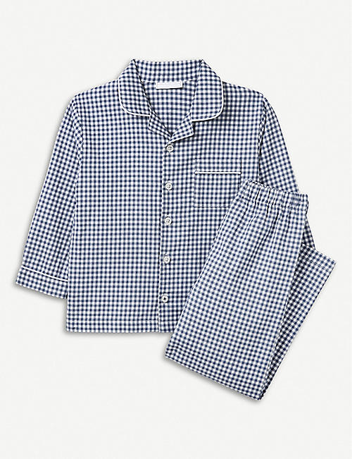 14f8803d0c THE LITTLE WHITE COMPANY Mini gingham cotton pyjamas 7-12 years