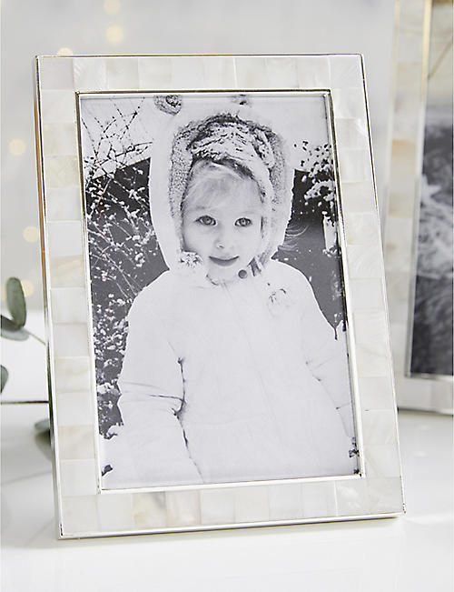 THE WHITE COMPANY Mother of pearl photo frame 4x6""