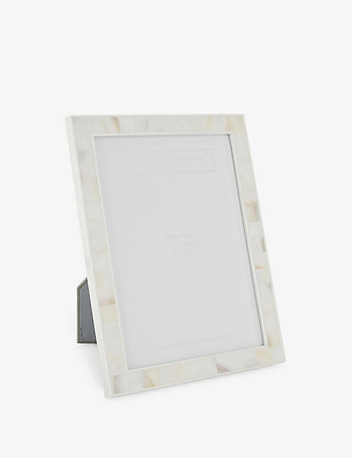 THE WHITE COMPANY: Mother of pearl photo frame 5x7""