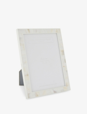 THE WHITE COMPANY Mother of pearl photo frame 5x7""