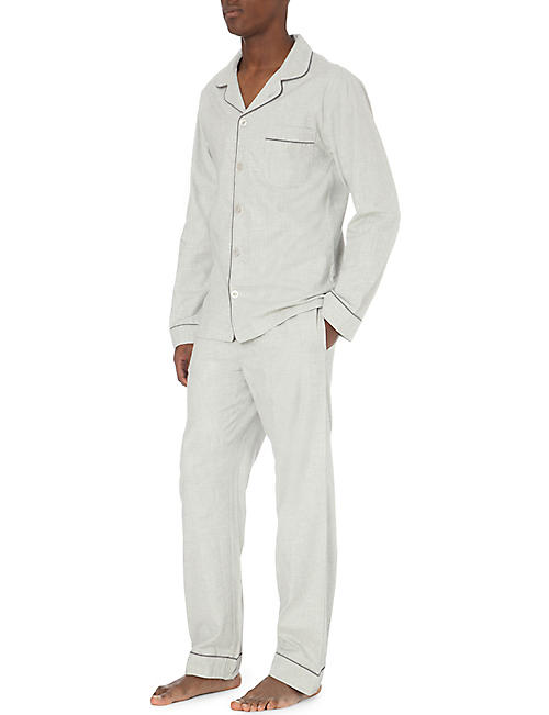 THE WHITE COMPANY Piped cotton pyjama set