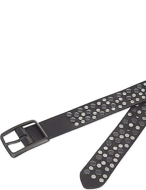 THE WHITE COMPANY Multi stud leather lelt