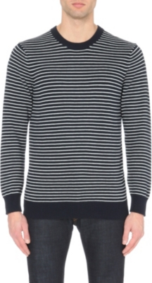 THE WHITE COMPANY Striped crew-neck jumper