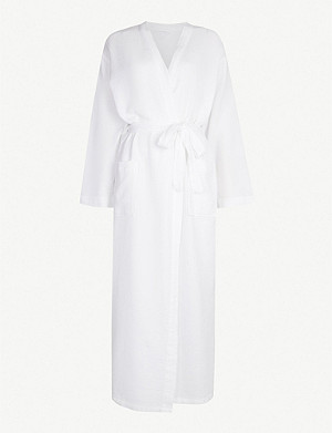 THE WHITE COMPANY Textured waffle cotton bathrobe