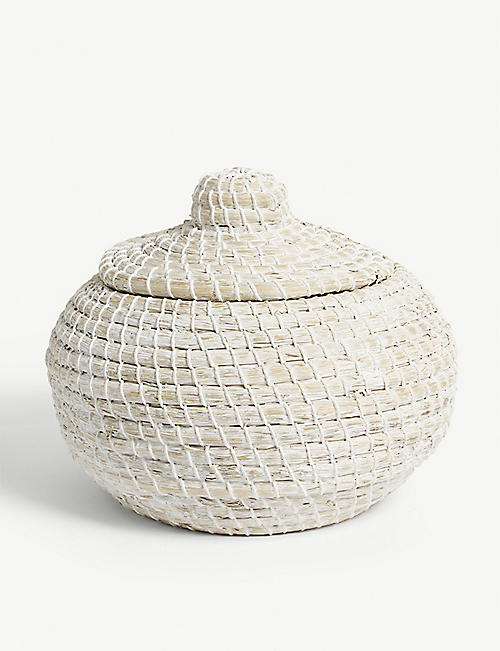 THE WHITE COMPANY Alibaba round basket