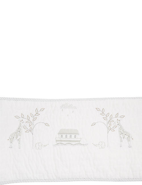 THE LITTLE WHITE COMPANY Noah's Ark bumper 35x204cm
