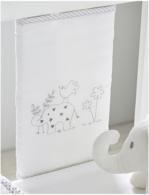 THE LITTLE WHITE COMPANY Noah's ark cot bumper sleeves set of eight