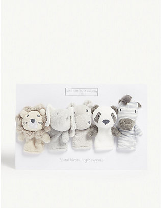 THE LITTLE WHITE COMPANY: Animal finger puppets