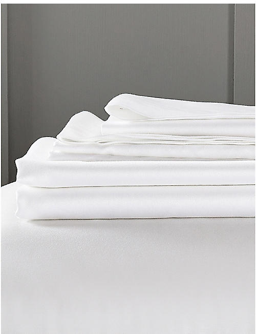 THE WHITE COMPANY: Camborne cotton-sateen superking fitted sheet 180x200cm