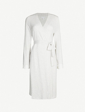 THE WHITE COMPANY Lace-trimmed stretch-jersey robe