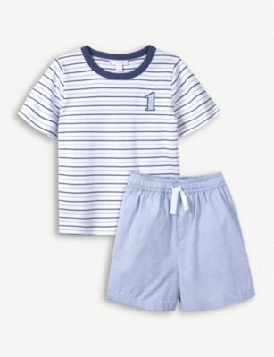 THE LITTLE WHITE COMPANY No.1 cotton pyjamas set 1 - 12 years
