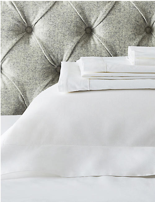 THE WHITE COMPANY Row Cord egyptian-cotton super king fitted sheet 200x180cm
