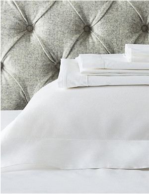 THE WHITE COMPANY Row Cord egyptian-cotton single flat sheet 275x180cm