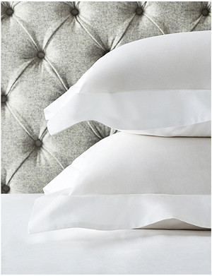 THE WHITE COMPANY Row Cord egyptian-cotton cot bed pillowcase 70cm x 140cm