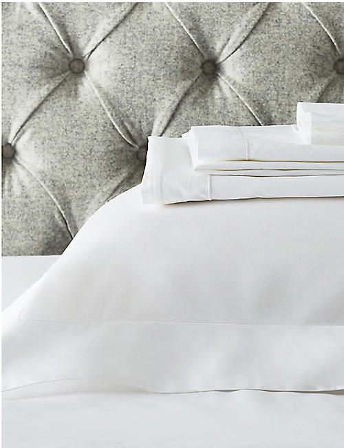 THE WHITE COMPANY: Genoa king flat cotton sheet 275cm x 275cm
