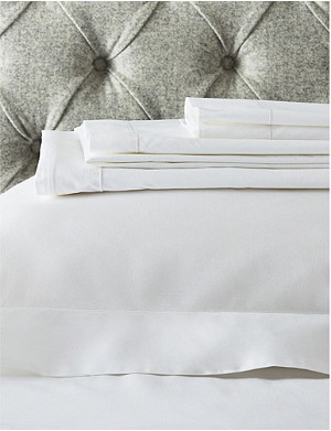 THE WHITE COMPANY Raw Cord egyptian-cotton super king flat sheet 275x305cm