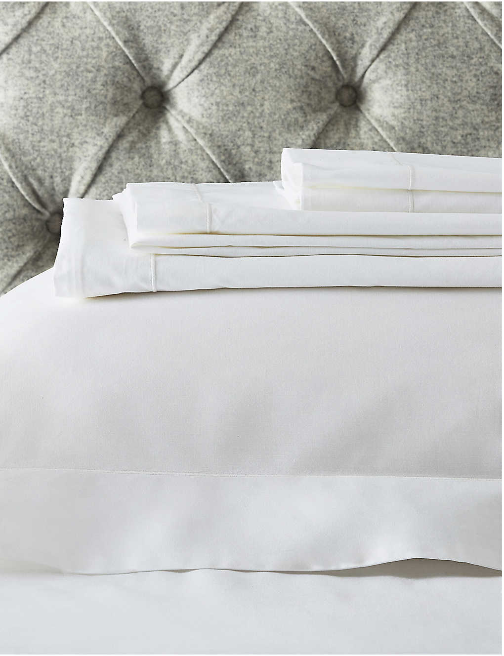 THE WHITE COMPANY: Raw Cord egyptian-cotton super king flat sheet 275x305cm