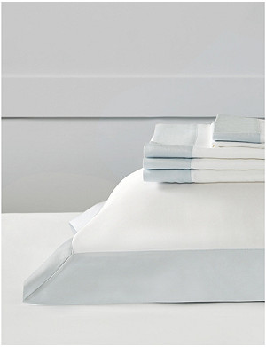 THE WHITE COMPANY Camborne cotton-sateen superking flat sheet 305x275cm
