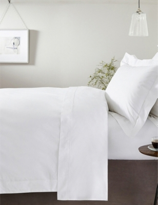THE WHITE COMPANY Savoy cotton double duvet cover 200x200cm