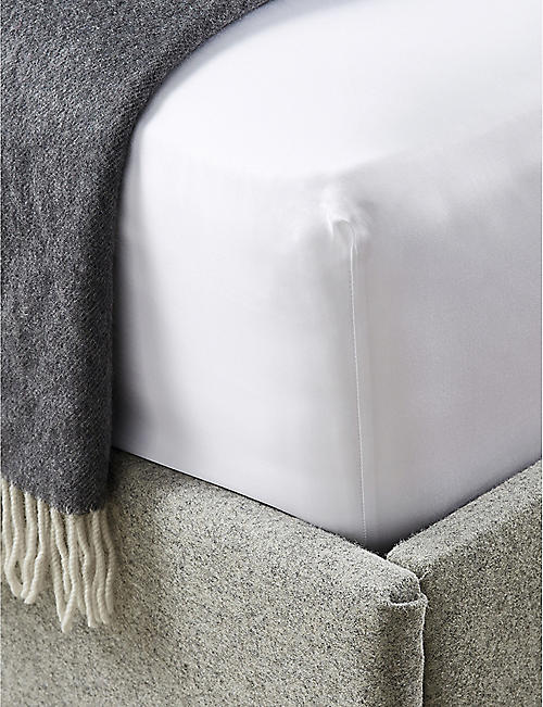 THE WHITE COMPANY: Savoy cotton double fitted sheet