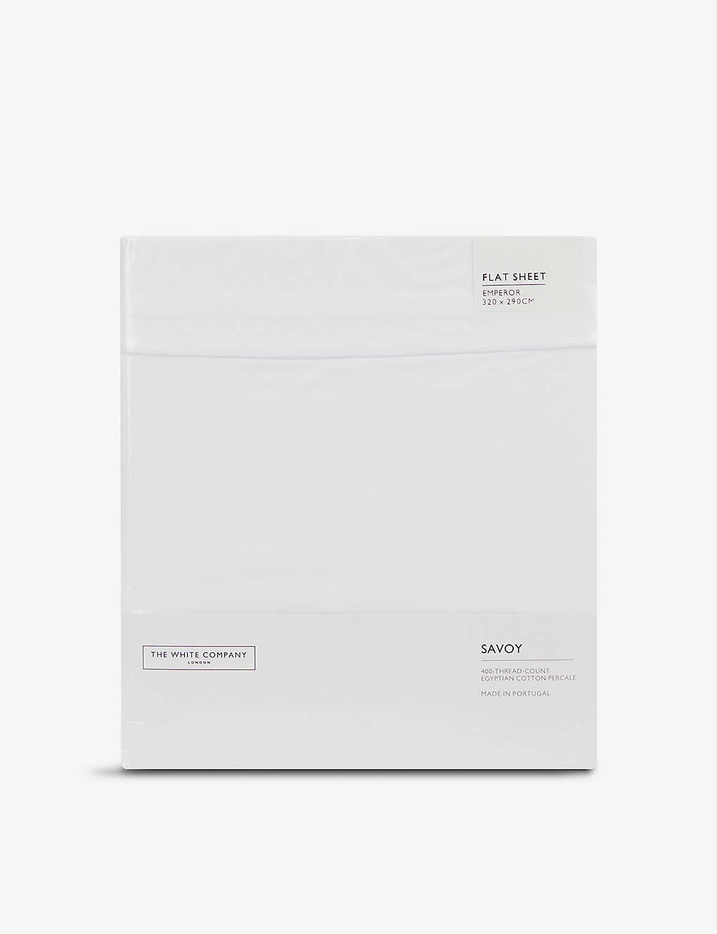 THE WHITE COMPANY: Savoy cotton emperor flat sheet 320cm x 290cm