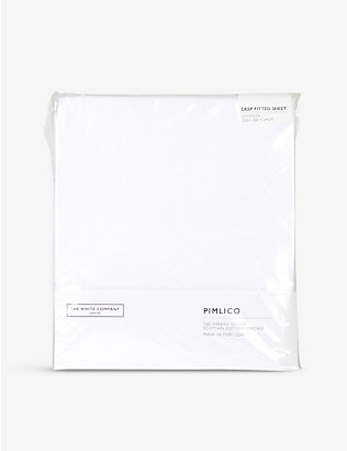 THE WHITE COMPANY: Pimlico cotton-percale deep fitted sheet emperor 200cm x 200cm