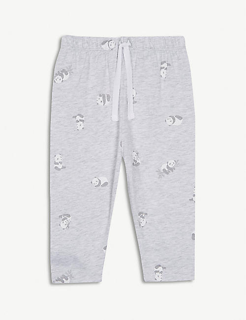 f79e36ade093 THE LITTLE WHITE COMPANY Panda print cotton leggings 0-24 months