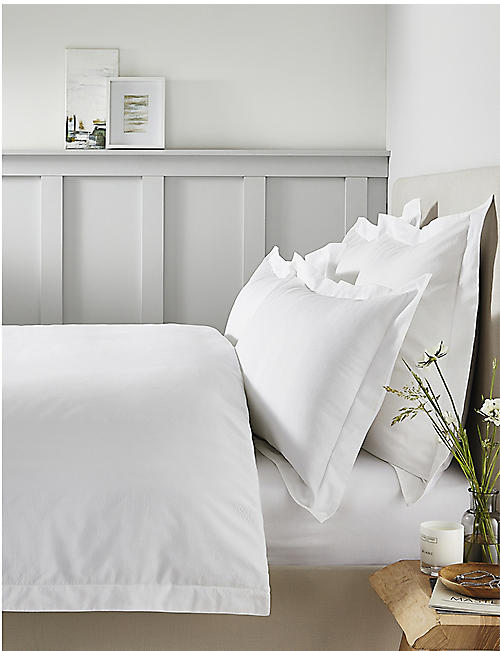 THE WHITE COMPANY Padstow cotton emperor duvet cover 290cm x 235cm