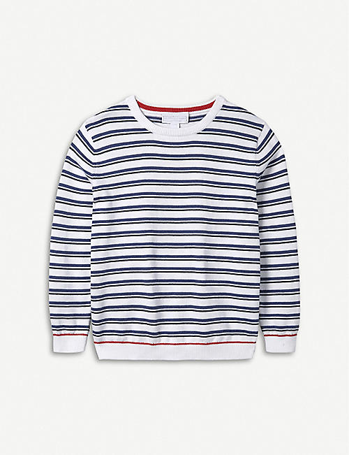 THE LITTLE WHITE COMPANY Striped cotton jumper 1-6 years a78e4cce7