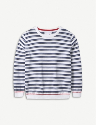 THE LITTLE WHITE COMPANY Striped cotton jumper 1-6 years