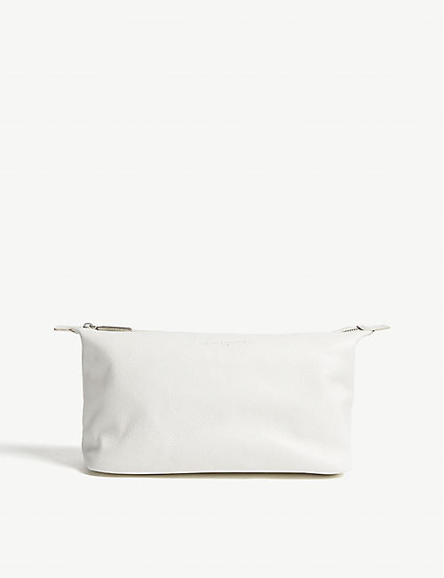 THE WHITE COMPANY Pebbled leather wash bag