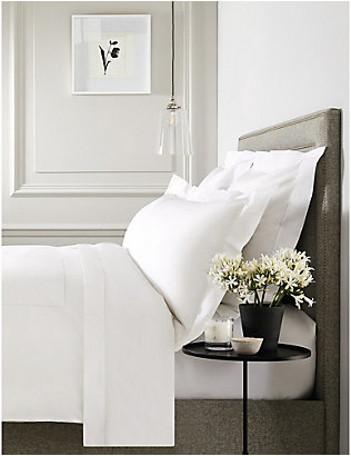THE WHITE COMPANY: Pimlico cotton emperor duvet cover 290cm x 235cm