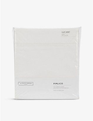 THE WHITE COMPANY: Pimlico cotton flat sheet king size 275cm x 275cm
