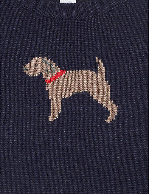 THE LITTLE WHITE COMPANY Puppy cotton jumper 1-6 years