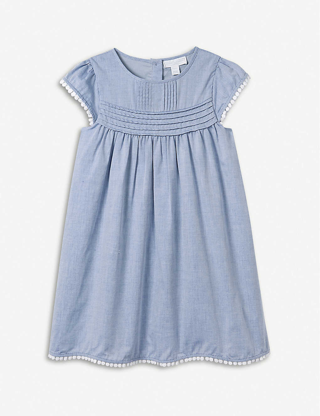 5d169f81295d THE LITTLE WHITE COMPANY - Pintuck chambray cotton dress 1-6 years ...