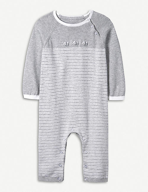 af262d0a6716 THE LITTLE WHITE COMPANY Panda knitted cotton romper 0-24 months